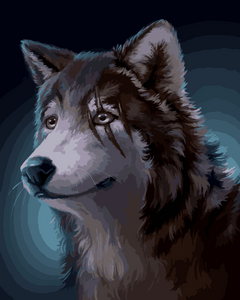 Wolf in the night (Painting by Numbers)