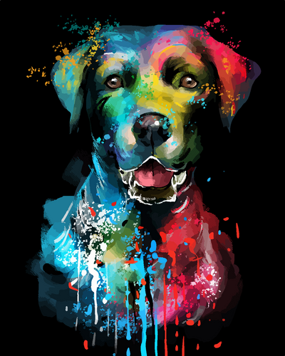 The color dog (Painting by Numbers)