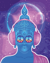 The Neon Buddha (Painting by Numbers