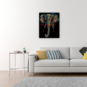 The color elephant (Painting by Numbers)