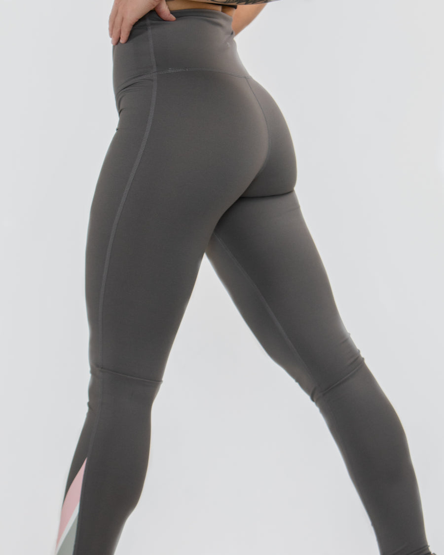 High-waist Leggings With Pink Stripe - MASHELEO