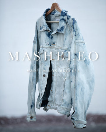 Oversized Acid Wash Denim Jacket - MASHELEO