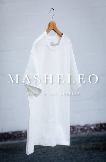 White Thick Plain T-shirt - MASHELEO