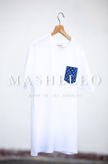 T-shirt with Japanese Blue Flower - MASHELEO