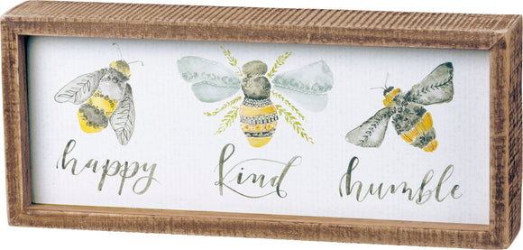 Bees Inset Box Sign