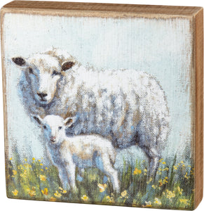 Large Sheep And Lamb Sign