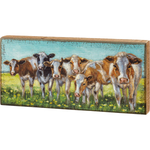 Cow Rows Box Sign