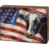 Flag Cow Block Sign