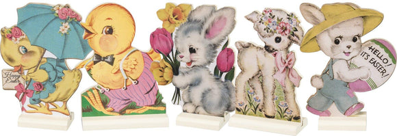 Retro Easter Animals Stand Up Set