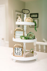Farmhouse Three Tier Tray (two color options)