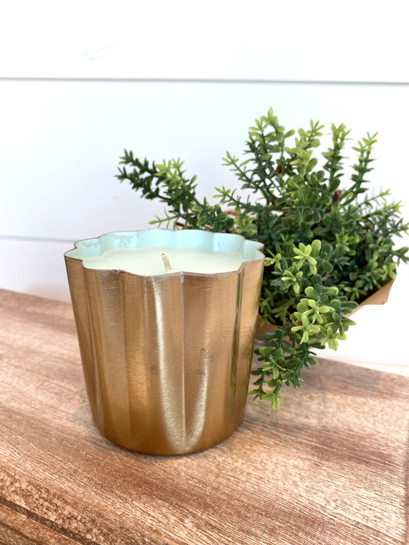 Mini Metal Candle In Sugared Blossom