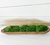 Beautiful Preserved Hand Carved Moss Bowl
