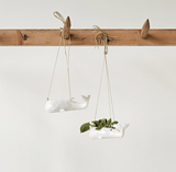 Stoneware Hanging Whale Planter
