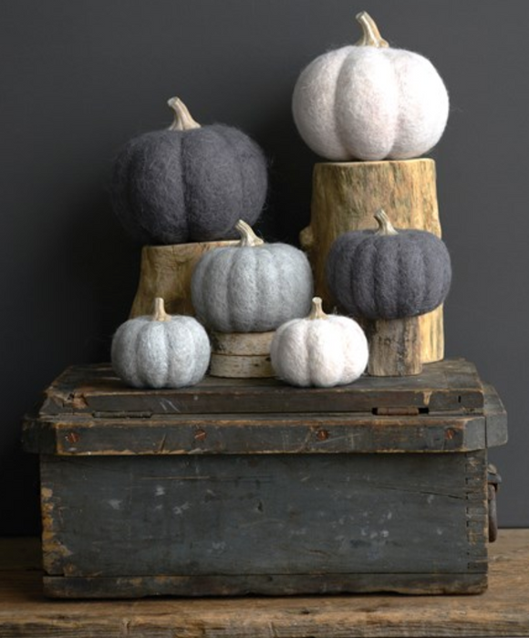 Felted Wool Pumpkin Decoration