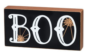 Boo Block Sign