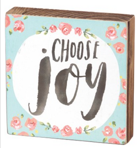 Choose Joy Block Sign