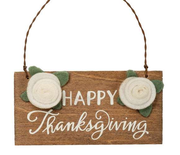 Happy Thanksgiving Hanging Sign