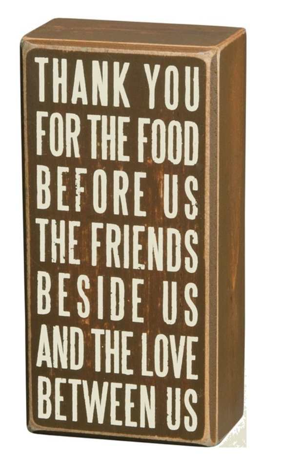 Thank You Thanksgiving Block Sign