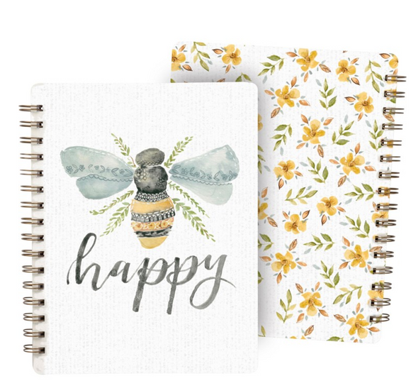 Spiral Notebook Bee Happy