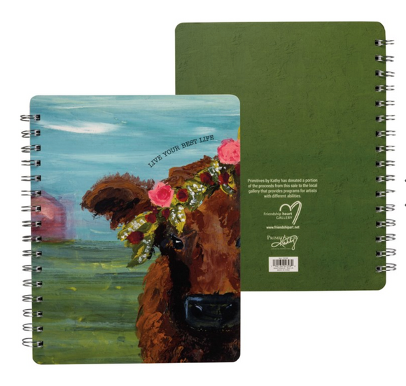 Cow Live Your Best Life Notebook