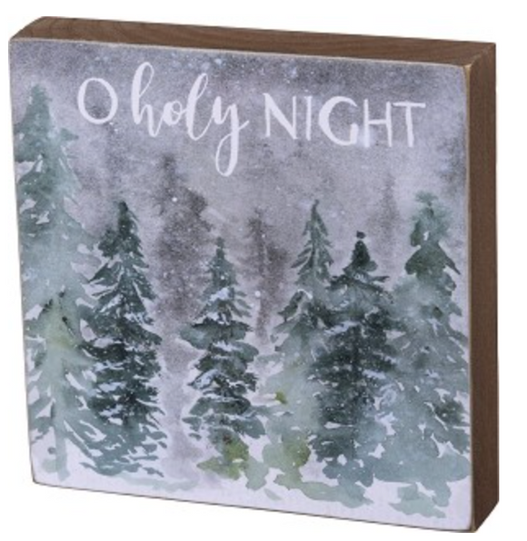 O Holy Night Block Sign