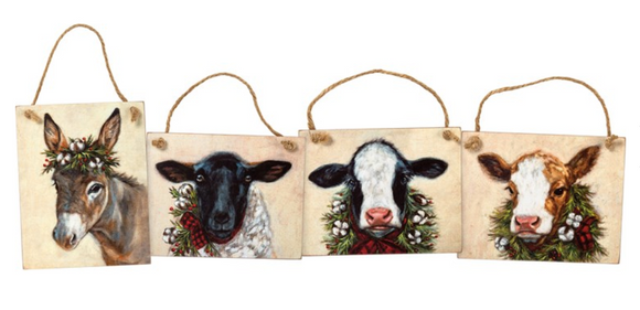 Christmas Farm Ornaments