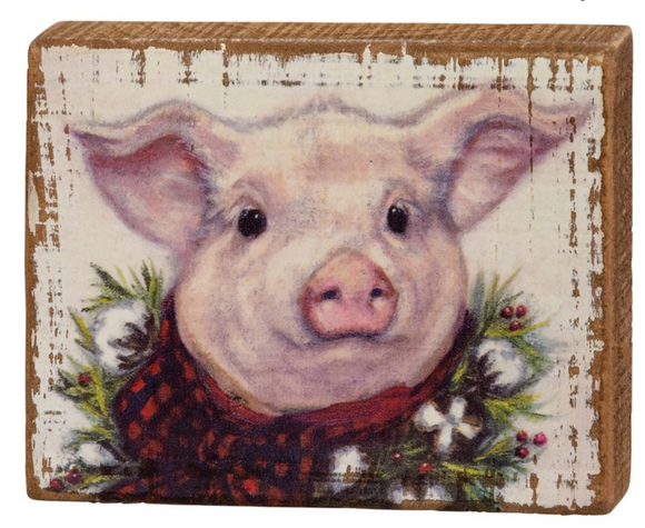 Little Pig Block Sign