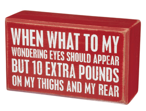 10 Extra Pounds Block Sign