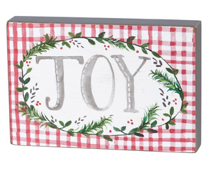 Christmas Joy Block Sign