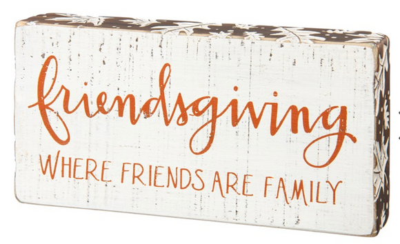Friendsgiving Block Sign