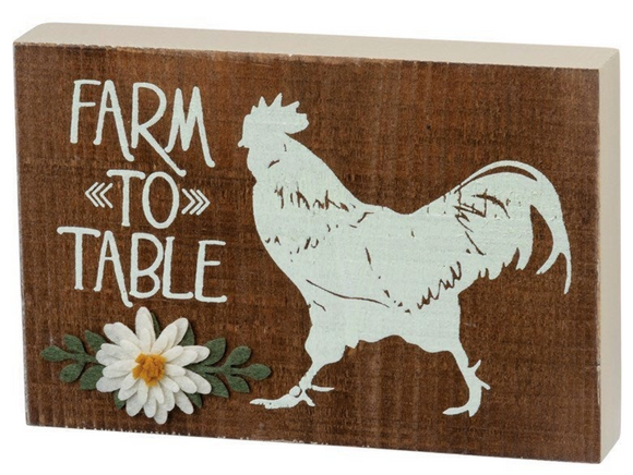 Farm to Table Block Sign