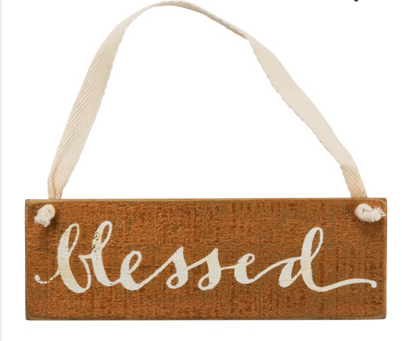 Slat Sign - Blessed