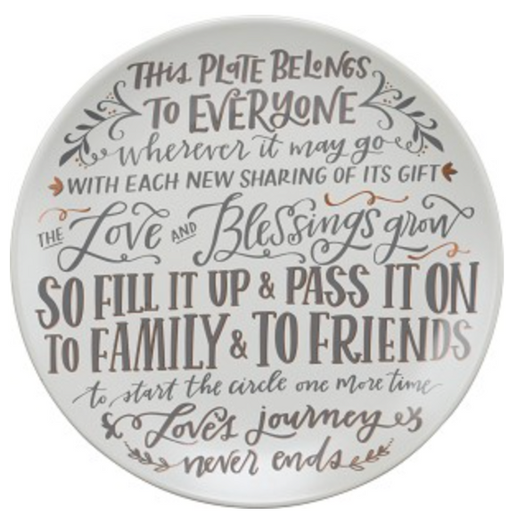 Giving Plate - This Plate Belongs To Everyone