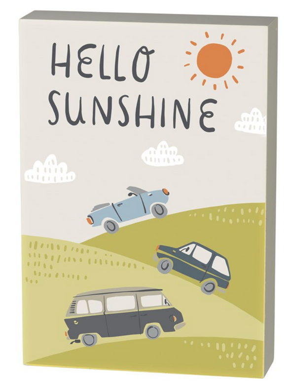 Box Sign - Hello Sunshine