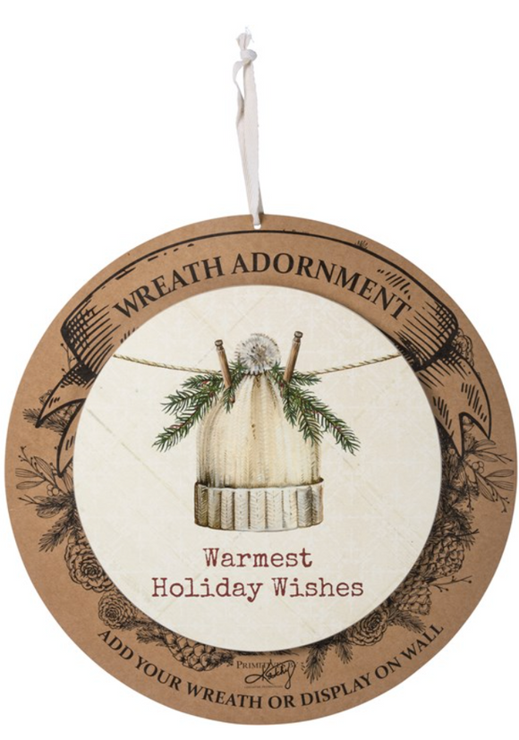 Wreath Insert - Warmest Holiday Wishes