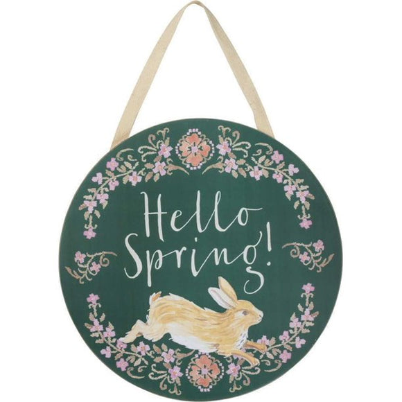 Hello Spring Hanging Sign