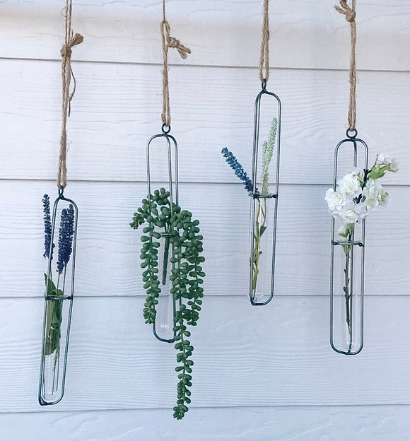 Delicate Metal and Test Tube planter