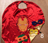 Super Hero Set. 1 Reversible Cape &3 Mask.