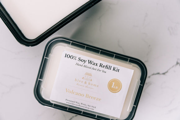 Refill Kit 100% Soy Wax- 2 Sizes