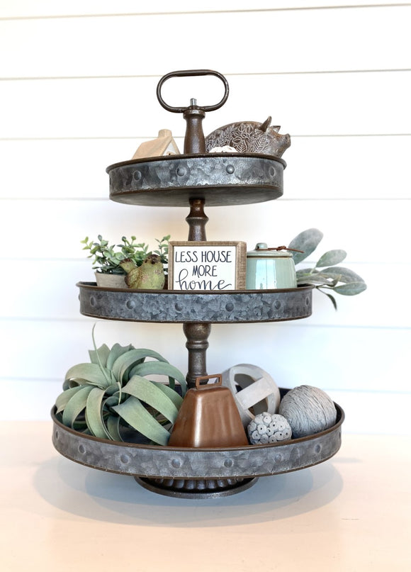 Three Tiered Oval Tray
