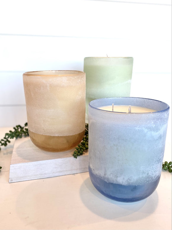 Large Mojave Glass Candle
