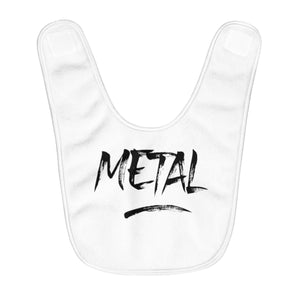 "Fleece Baby Bib ""Metal"""