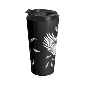 "Stainless Steel Travel Mug ""E-B-S-Music"""