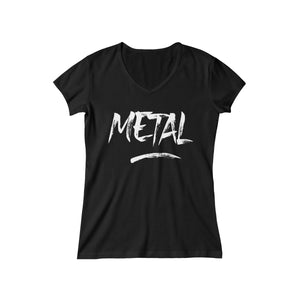 "Short Sleeve V-Neck Tee ""Metal"""