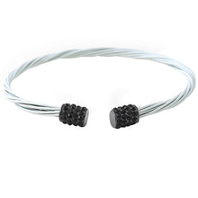 Load image into Gallery viewer, Black White Guitar String Style Bracelet
