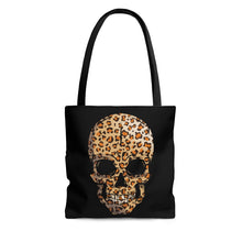 Load image into Gallery viewer, Leopard Print Skull Tote Bag