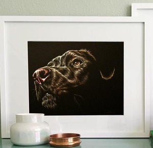 Fine Art Print: Black Dog Drawing, , ArtistrybyLisaMarie