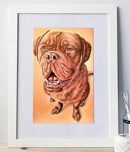Fine Art Print: Mastiff Dog Drawing, , ArtistrybyLisaMarie
