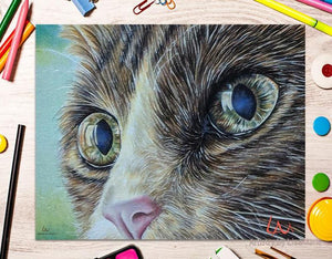 Fine Art Print: Cat Close Up Portrait, , ArtistrybyLisaMarie
