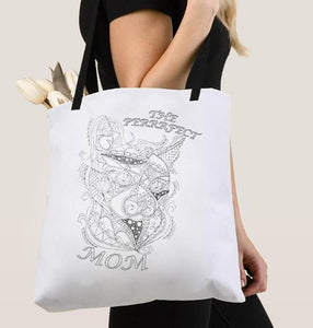 Coloring Tote Bag: The Perfect Mom, Cat, , ArtistrybyLisaMarie